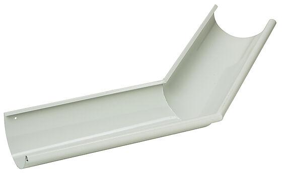 Rennevinkel utvendig 45° hvit 125 mm