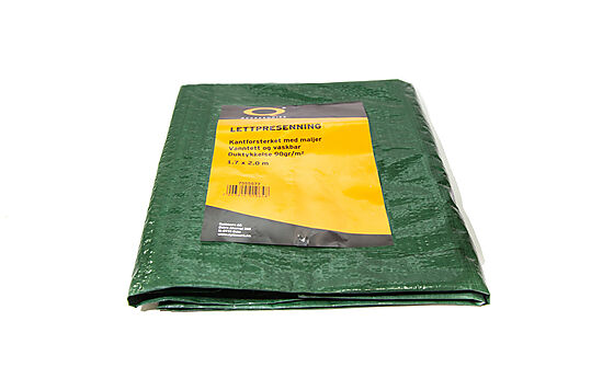 Presenning 1,7x2 m 90 gram/m2 grønn