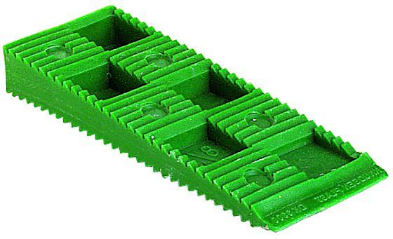 Grønn kile henge kort 10x30x80 mm pakke á 20 stk