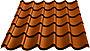 Takplate royal brunrød 2100 mm
