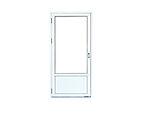Basic 1,2 balkongdør 79x209 cm 100cm brystning høyrehengslet