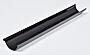 Takrenne sort stål 4 meter 125 mm