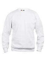 Basic genser rund hals 021030 Hvit L