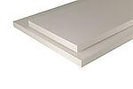 Hobbyplate  melamim hvit furu 18x500x2400 mm
