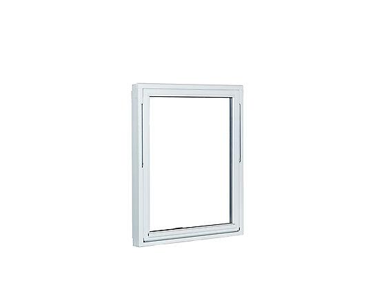 Basic 1,2 vindu toppsving 119x119 cm hvit