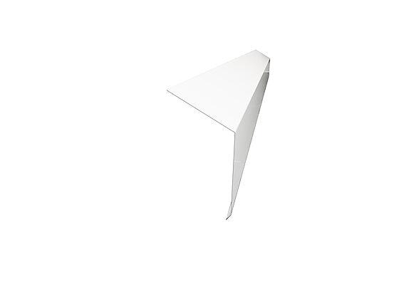 Takfotbeslag P-tak hvit 120 mm 2 m