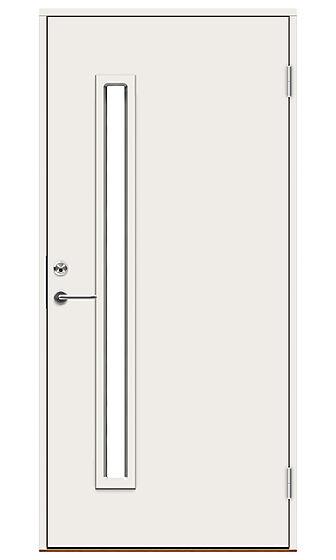Urban Pluss ytterdør med glass 100x210 cm venstrehengslet hvit