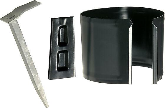 Rørklamme murvegg 21 sort 75 mm