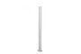 Stolpe aluminium m/hatt hvit 102 cm