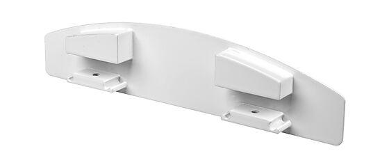Plastmo endebunn til buet håndløper hvit til eksisterende rekkverk
