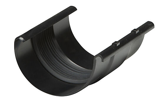 Skjøtestykke T46 m/ pakning plast sort