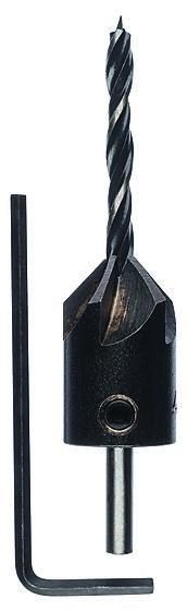 Trebor standard med senker ø4mm