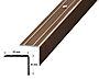 Trappenese nr. 9.1 sølv blank borret m/skruer 1,5 meter