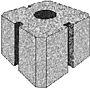 Pilarblokk 25x25x24 cm