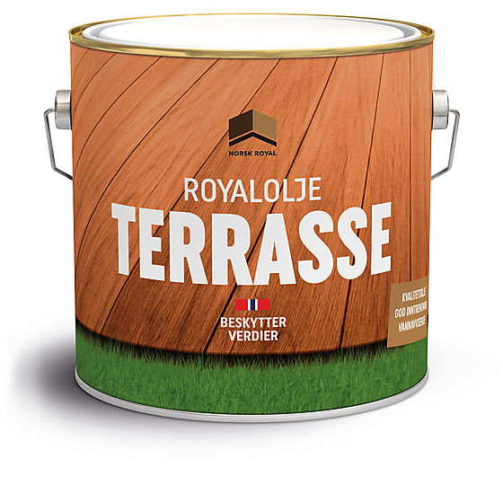 Olje terrasse royalolje klar 3 liter