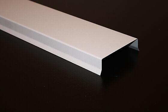 Vindskibeslag 125 mm 2 meter hvit