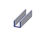 List U-Profil Pvc 18X18X2600Mm Svart- For 18 Mm Hobbyplate