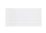 Kjøkkenplate flis hvit snø subway 2,2x1200x600 mm