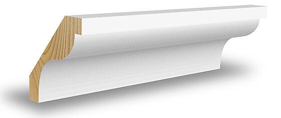 Taklist CW364 furu hvit bomull 15x65x4400 mm NCS S0502Y