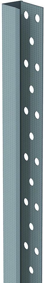 Kantskinne 23x15x18x2400 mm KS13 0,45 mm perforert sparkelprofil