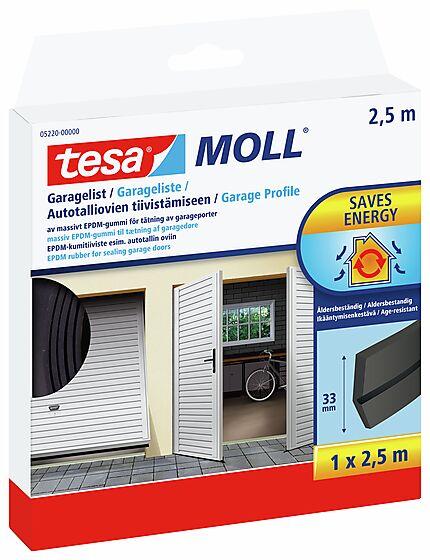 Tetningslist for garasje sort 2,5 m x 33 mm