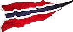 Norgesflagg vimpel vevd polyester 400 cm