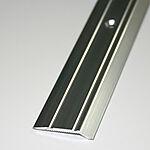 Nivålist nr. 5 2 meter sølv blank borret m/skruer