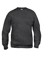 Basic genser rund hals 021030 Antrasitt M