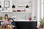 Kjøkkenplate 62000453  lys skifer flis 5x5 cm, 3x120x60 mm