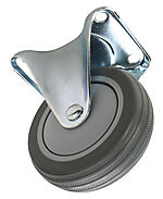 Transporthjul ø 100 mm fast elforsinket