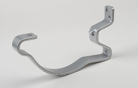 Rennekrok med lufting stål silver 125 mm