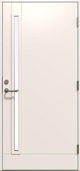 Gilje Hades ytterdør 99x209 cm venstrehengslet hvit