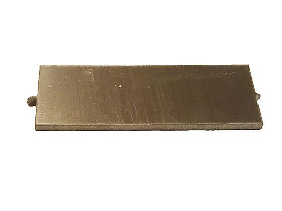 Plastmo skjøtestykke rett til håndløper 7x2,5 cm aluminium pose a 2 stk