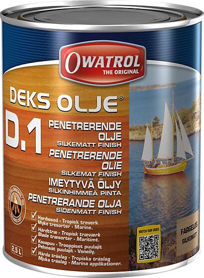 Deksolje D1 treolje silkematt 2,5 liter