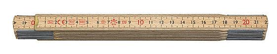 Meterstokk tre 2 m