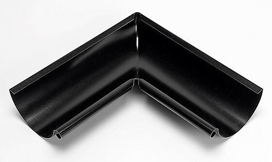 Takrenne vinkel 02 innvendig 90° stål sort