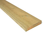 Terrassebord impregnert furu rillet 28x145 mm