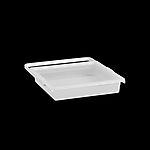 Uttrekkbar boks 448x88x436 mm transparent/hvit