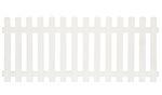 Stakittgjerde Lindesnes hvit 180 x 80 cm
