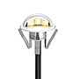 Led-spot for stolpe/trapp