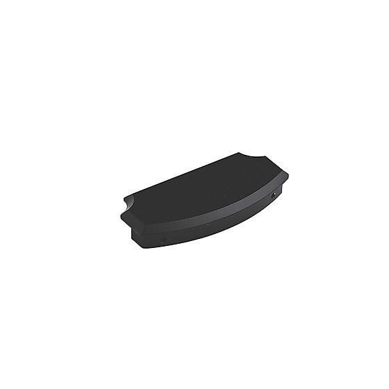 Plastmo endebunn til håndløper 95x45x15 mm antrasittgrå