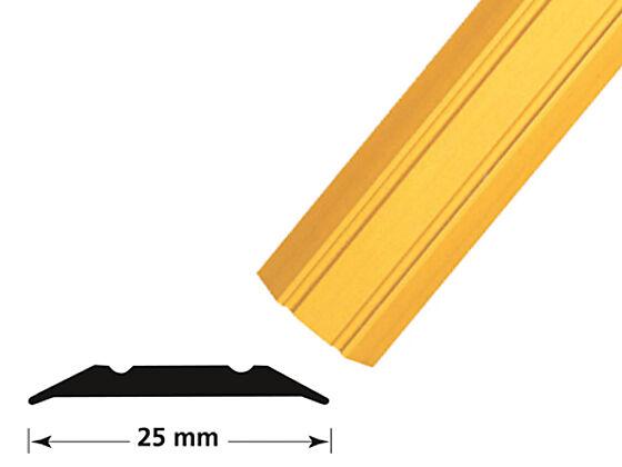 Overgangslist nr. 1 25 mm messing eloksert borret m/skruer 1 meter