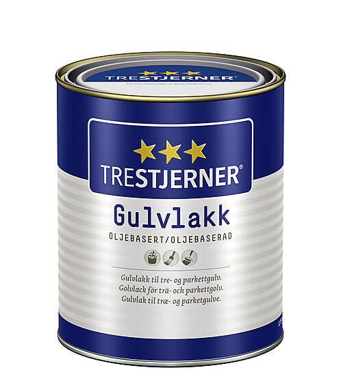 Gulvlakk oljebasert blank 0,75 liter Trestjerner
