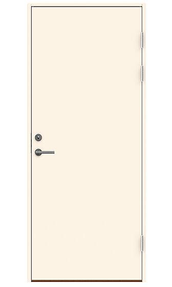 Dørsett 100x210 cm venstrehengslet hvit