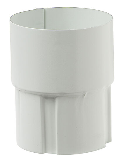 Skjøttemuffe 22 stål hvit 75 mm