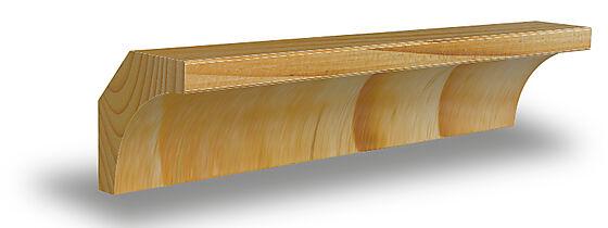 Hulkillist 15x15x2700 mm ubehandlet furu