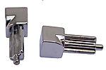 Hjørnestift innvendig krom aluminium 8 mm pakke a 2 stk