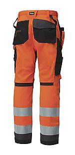 Snickers arbeidsbukse 6230 oransje highvis klasse 2 størrelse 112
