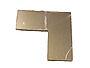 Plastmo skjøtestykke 90° aluminium til håndløper 6x6x2,5 cm pose a 2 stk