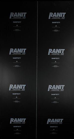 Undertakplate 2x1300x2500 mm vanntett svart PE belegg